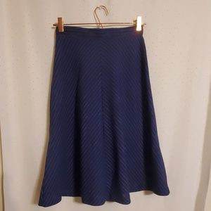Vintage | Diagonal Striped Skirt